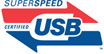 SUPERSPEED CERTIFIED USB