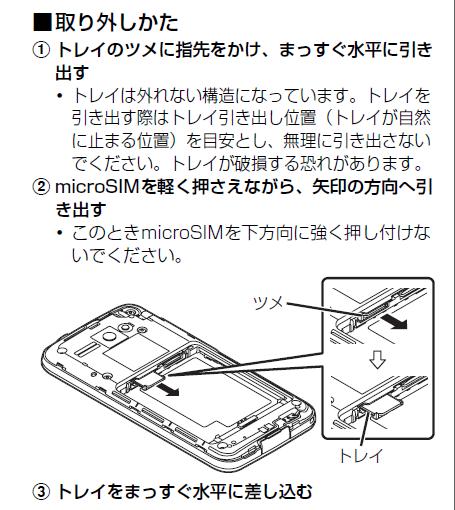 microSIMの取り付け、取り外し2