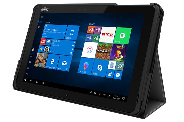10.1型 Windowsタブレット arrows Tab QHシリーズ:カラー・各部名称