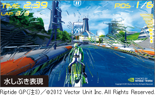 Riptide GP(注3)/(C)2012 Vector Unit Inc. All Rights Reserved.